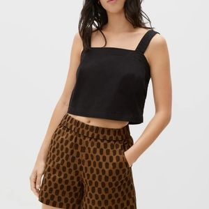 NWT Everlane the button back tank in black